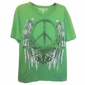 Algodon Organico Peace w/ Angel Wings Tee Shirt
